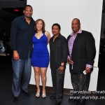L to R Former NBA Player Robert Horry, Myself, Saxman Dean James, and Tony Hall backstage at Dean's Performance